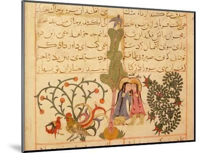 Scene from the only known illustrated manuscript of the poem, the Romance of Varqa and Gulshah-Werner Forman-Mounted Giclee Print
