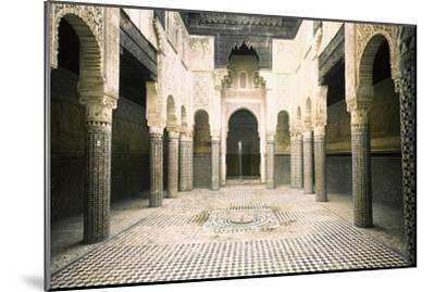 The Madrasa at Sale-Werner Forman-Mounted Giclee Print