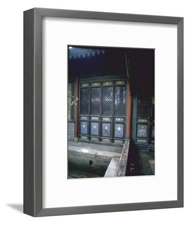 The Scripture Hall at the Great Mosque in Xian-Werner Forman-Framed Giclee Print