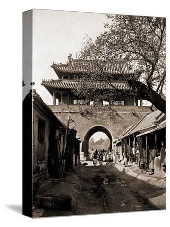 Temple of the Drum -  Qufu - Confucius Birth City-A. Larz-Stretched Canvas Print