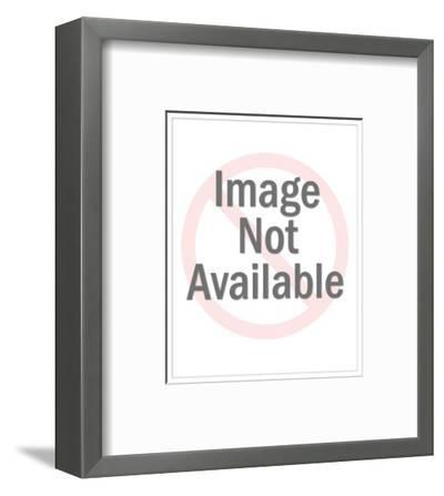 Bubbles Red IV-Angela Cameron-Framed Photographic Print