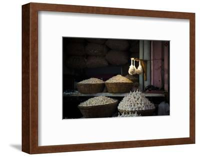Garlic Market 2-Valda Bailey-Framed Photographic Print