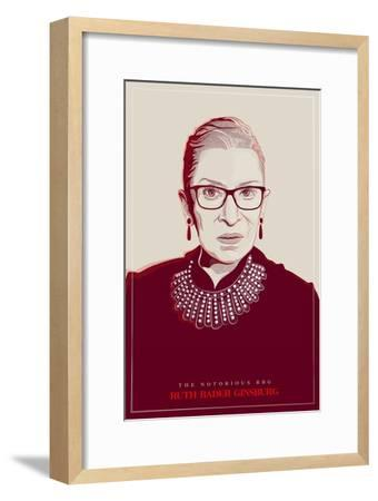 Ruth Bader Ginsburg - The Notorious RBG (Red)--Framed Premium Giclee Print