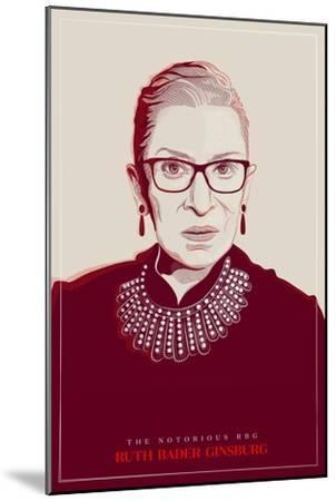 Ruth Bader Ginsburg - The Notorious RBG (Red)--Mounted Art Print
