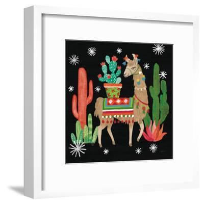 Lovely Llamas III Christmas Black-Mary Urban-Framed Art Print