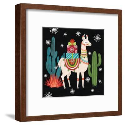 Lovely Llamas II Christmas Black-Mary Urban-Framed Art Print