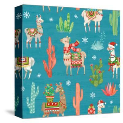 Lovely Llamas Christmas Step 06B-Mary Urban-Stretched Canvas Print