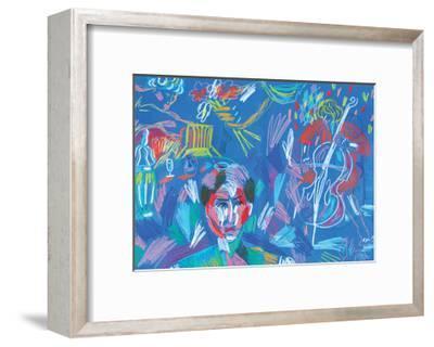 Blue Symphony-Sol Jeong-Framed Giclee Print