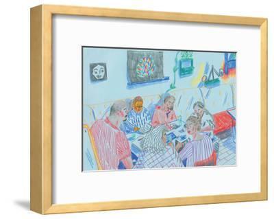 Drawing Club-Sol Jeong-Framed Giclee Print