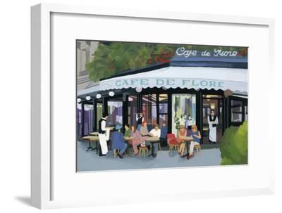 Paris cafe and garcon and guests,2015-Hiroyuki Izutsu-Framed Premium Giclee Print