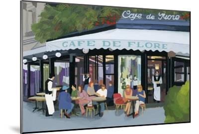 Paris cafe and garcon and guests,2015-Hiroyuki Izutsu-Mounted Premium Giclee Print