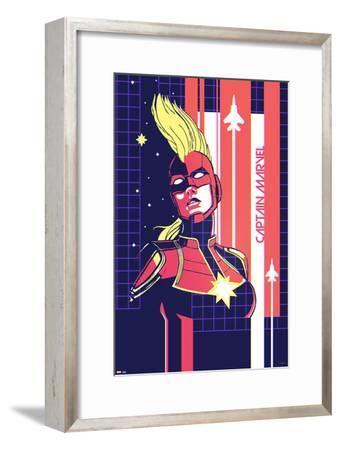 Captain Marvel - Grid--Framed Poster