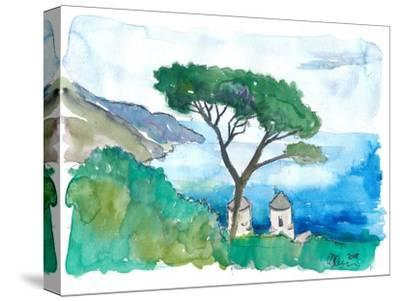 Incredible Amalfi Coast View Ravello Villa Rufolo-M. Bleichner-Stretched Canvas Print