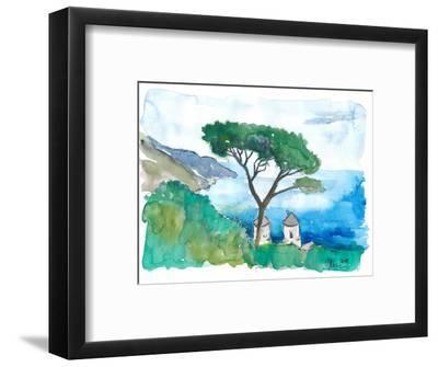 Incredible Amalfi Coast View Ravello Villa Rufolo-M. Bleichner-Framed Art Print