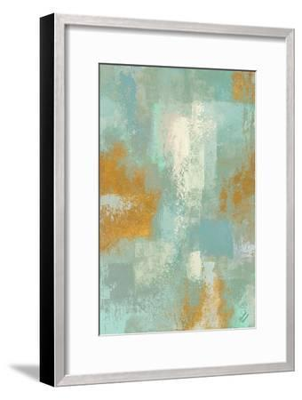 Escape into Teal Abstraction I-Michael Marcon-Framed Art Print