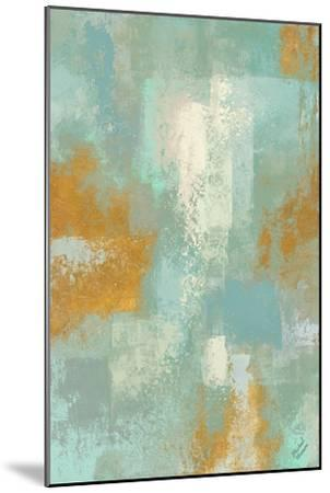 Escape into Teal Abstraction I-Michael Marcon-Mounted Art Print