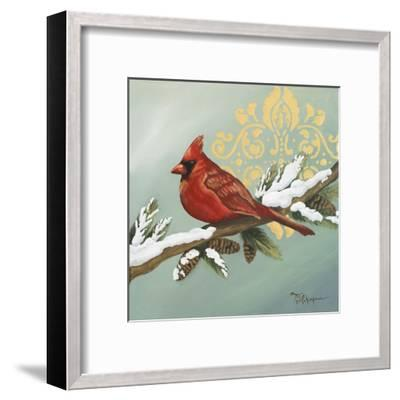 Winter Red Bird II-Tiffany Hakimipour-Framed Art Print