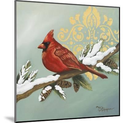 Winter Red Bird II-Tiffany Hakimipour-Mounted Art Print