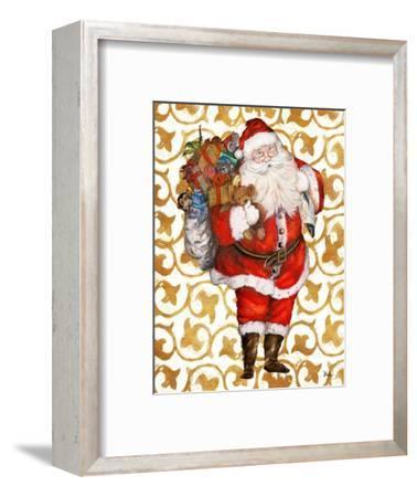 Golden Santa-Patricia Pinto-Framed Art Print