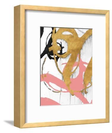 Rose Gold Strokes I-Megan Morris-Framed Art Print