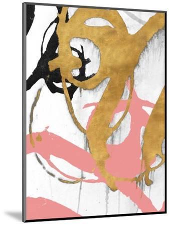 Rose Gold Strokes I-Megan Morris-Mounted Art Print