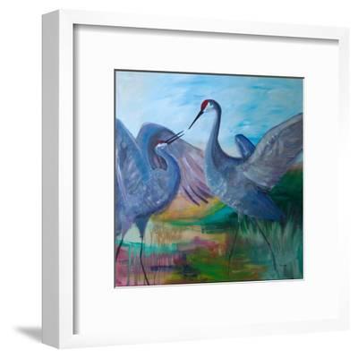 Sandhill Cranes-Robin Maria-Framed Art Print
