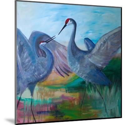 Sandhill Cranes-Robin Maria-Mounted Art Print