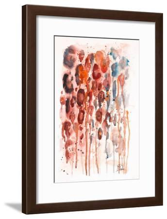 Red Watercolor Animal Skin-Patricia Pinto-Framed Art Print