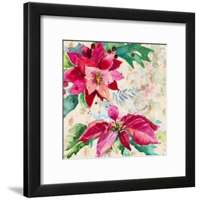 Holiday Poinsettia I-Patricia Pinto-Framed Art Print