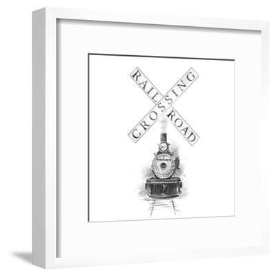 Railroad Crossing-Patricia Pinto-Framed Art Print