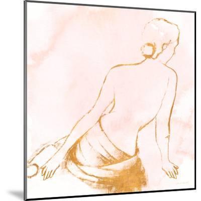 Seated Woman Rose Gold-Lanie Loreth-Mounted Art Print