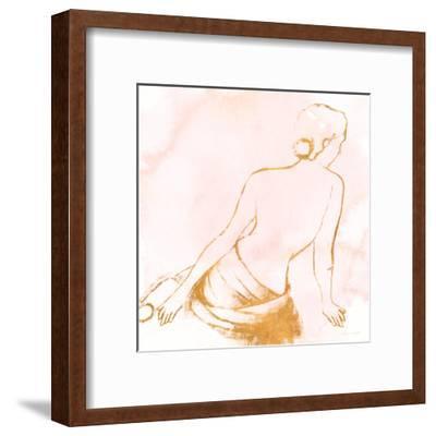 Seated Woman Rose Gold-Lanie Loreth-Framed Art Print