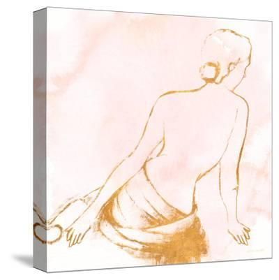 Seated Woman Rose Gold-Lanie Loreth-Stretched Canvas Print