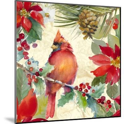 Cardinal and Pinecones II-Lanie Loreth-Mounted Art Print