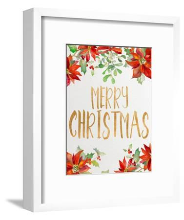 Holiday Poinsettias II-Lanie Loreth-Framed Art Print