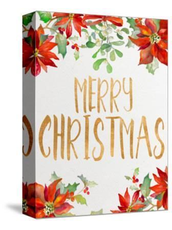 Holiday Poinsettias II-Lanie Loreth-Stretched Canvas Print