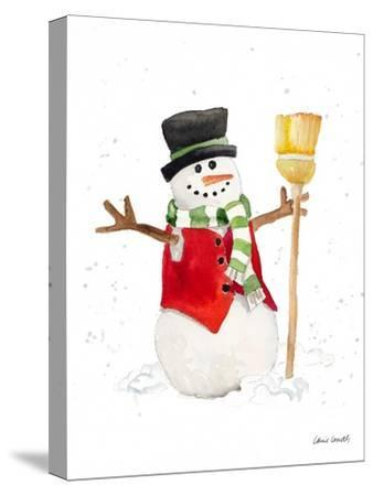 Watercolor Snowman I-Lanie Loreth-Stretched Canvas Print