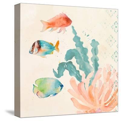 Tropical Teal Coral Medley I-Lanie Loreth-Stretched Canvas Print