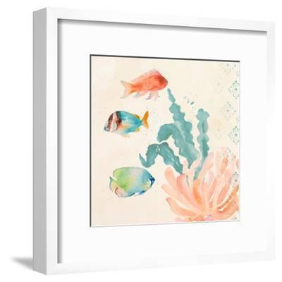 Tropical Teal Coral Medley I-Lanie Loreth-Framed Art Print