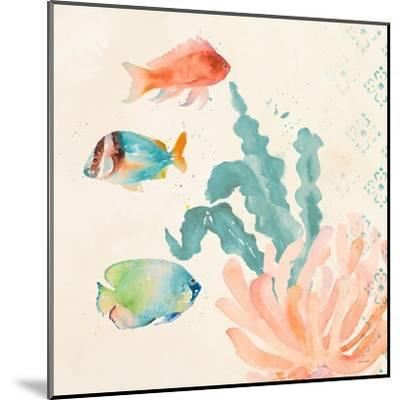 Tropical Teal Coral Medley I-Lanie Loreth-Mounted Art Print