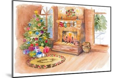 Santa's Fireplace and Tree Scene-Lanie Loreth-Mounted Art Print