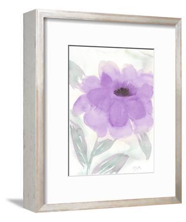Lilac Peony II-Beverly Dyer-Framed Art Print