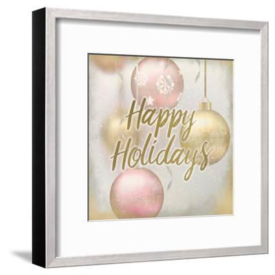 Happy Holidays Ornaments-Kimberly Allen-Framed Art Print