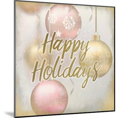 Happy Holidays Ornaments-Kimberly Allen-Mounted Art Print