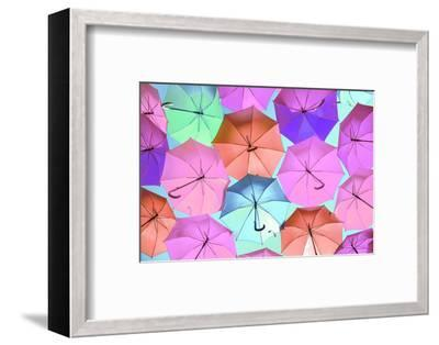 Colourful Umbrellas Collection - Light Pink-Philippe Hugonnard-Framed Photographic Print