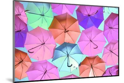 Colourful Umbrellas Collection - Light Pink-Philippe Hugonnard-Mounted Photographic Print