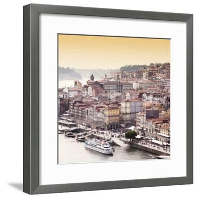 Welcome to Portugal Square Collection - Ribeira View at Sunset - Porto-Philippe Hugonnard-Framed Photographic Print