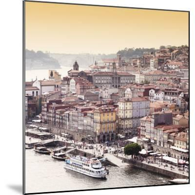 Welcome to Portugal Square Collection - Ribeira View at Sunset - Porto-Philippe Hugonnard-Mounted Photographic Print