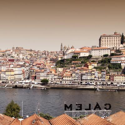 Welcome to Portugal Square Collection - Porto Old City at Sunset II-Philippe Hugonnard-Framed Photographic Print