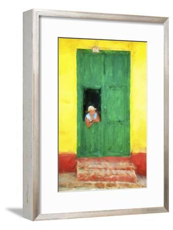Cuba Painting - The Day I Met You-Philippe Hugonnard-Framed Art Print